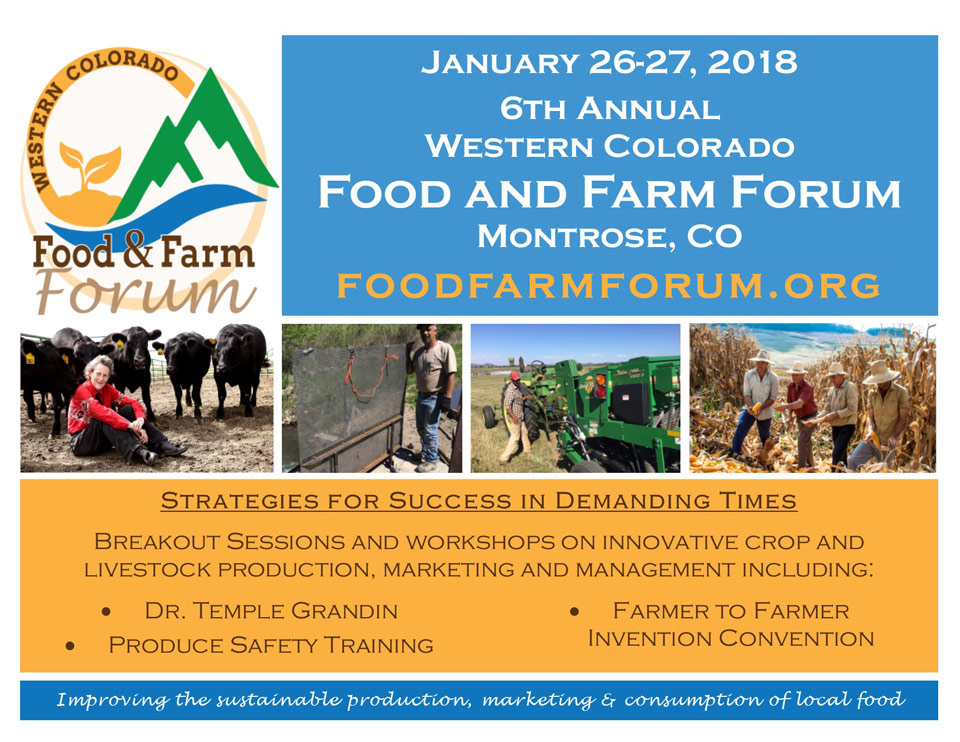 2018 Food and Farm Forum poster
