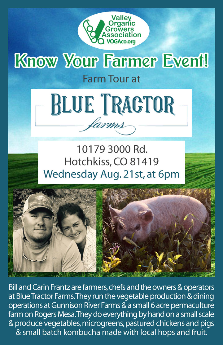Know Your Farmer - Blue Tractor poster