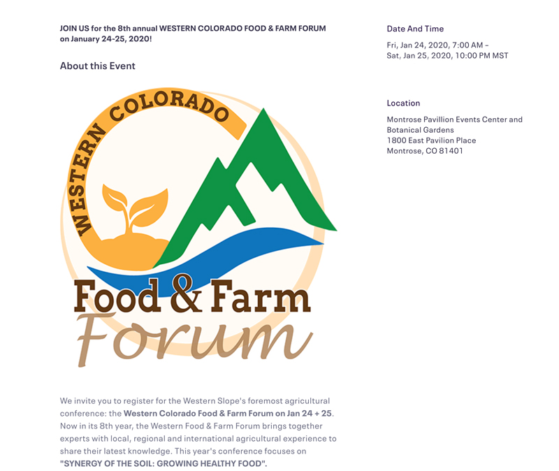 Food and Farm Forum image
